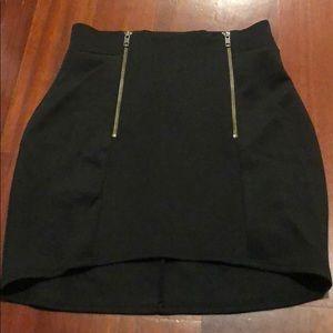 Nasty gal zipper body con skirt - medium